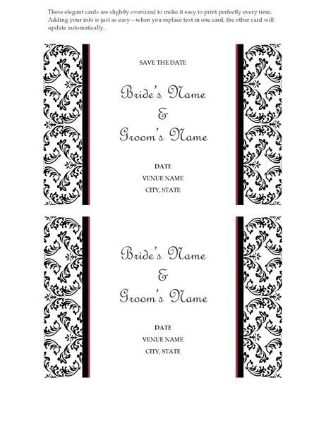 Wedding save the date card (Black and White wedding design)
