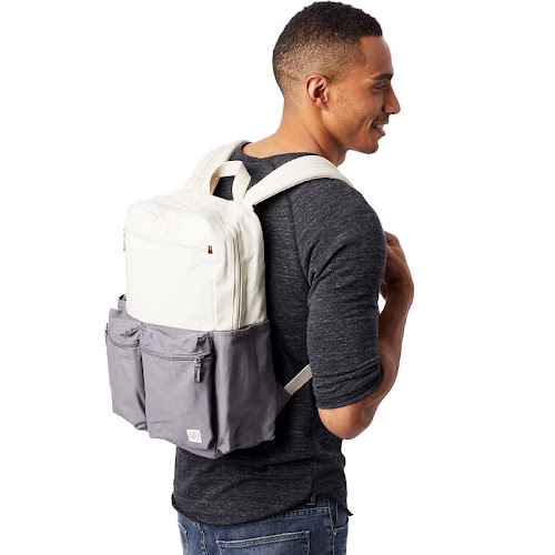 Alternative Retro Computer Backpack OS Natural & Grey