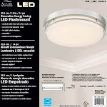 Altair Lighting LED 14-Inch Dimmable Flush mount Decorative Light Fixture, 21W