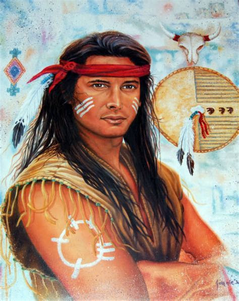 Leanin' Tree 16 x 20 Poster Indian Brave. Art by Jonnie K
