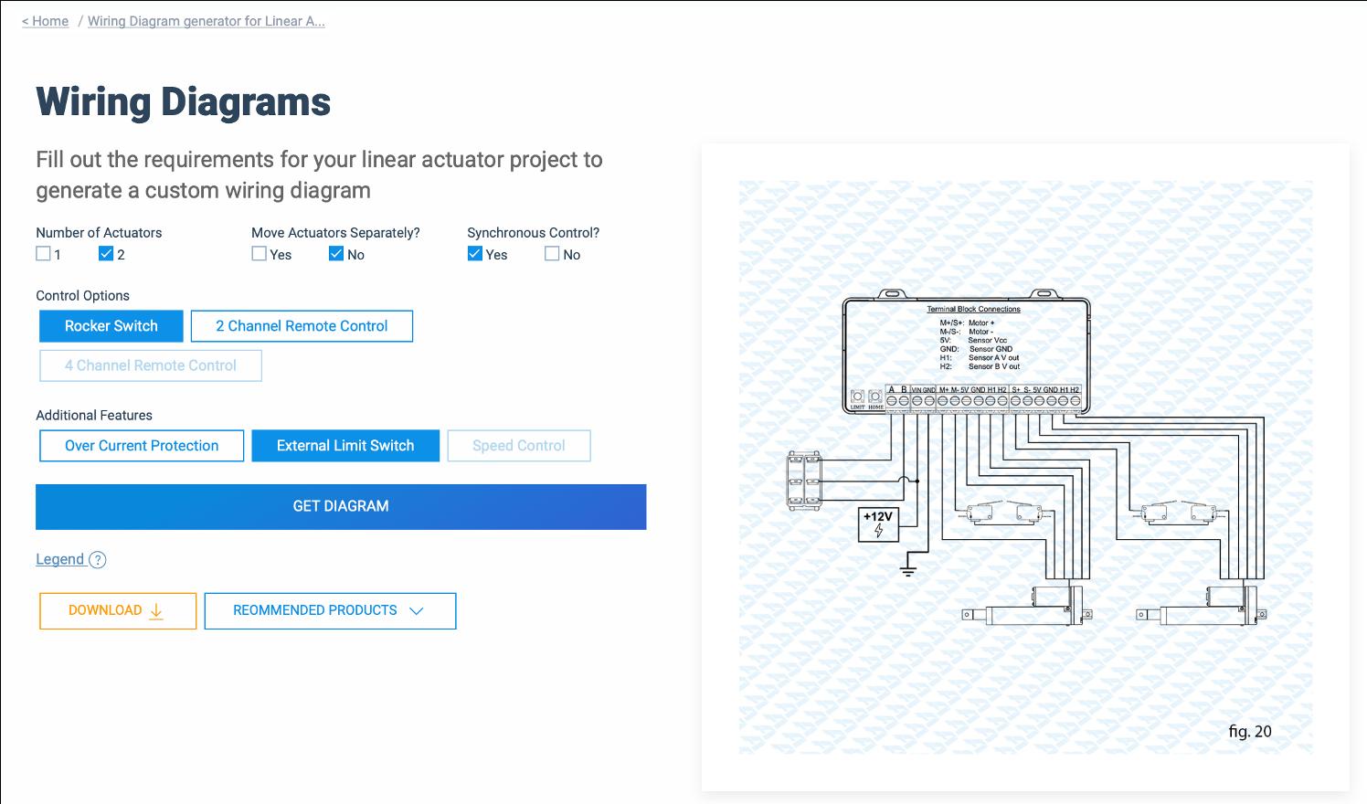 Linear Actuator Wiring Diagram Generator Firgelli