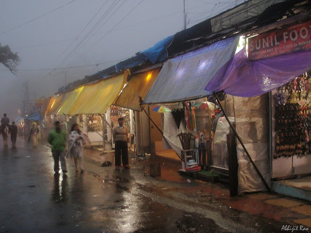 market in the evening