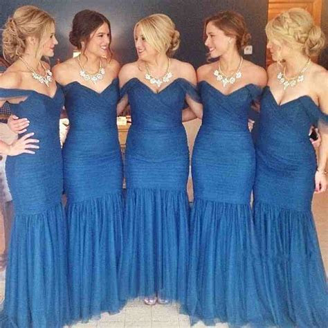 Navy Blue And Gold Bridesmaid Dresses   Wedding and Bridal