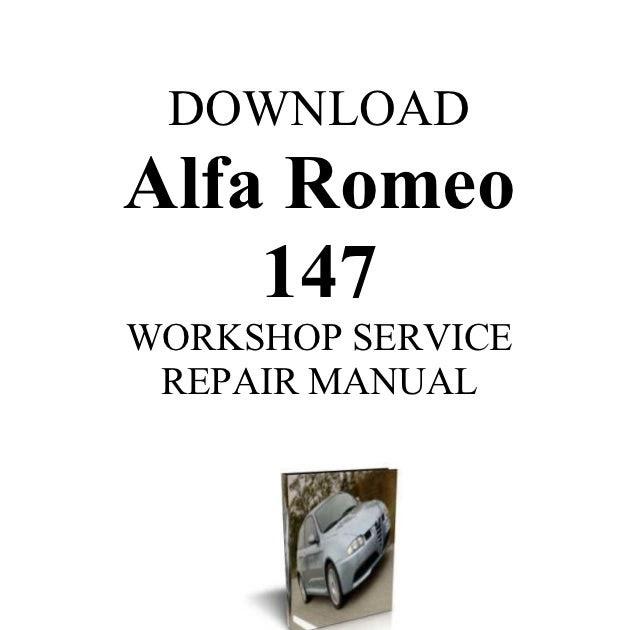 Bestseller  Alfa Romeo 147 Service Manual Download
