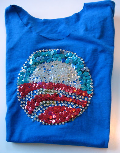 sparkly obama shirt