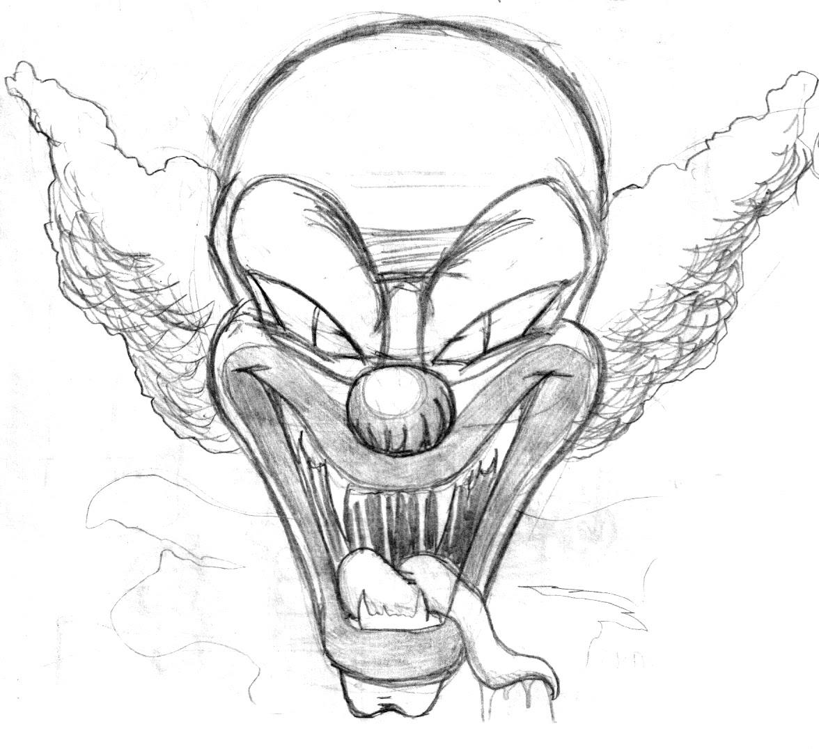 ausmalbilder killer clown