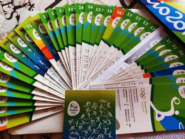 Thiago comprou 42 ingressos para a Olimpíada no Rio de Janeiro (Foto: Thiago Moraes/ Arquivo pessoal)