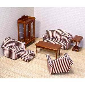 Amazon.com: Melissa & Doug Deluxe Doll-House Furniture ...