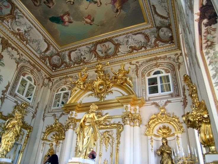 Example of Baroque architecture in St. Petersburg, Russia