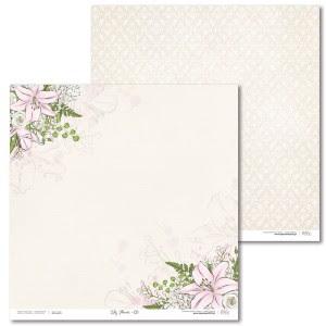 Papier 30 x 30 cm - Lily Flower - 01 - Laserowe LOVE