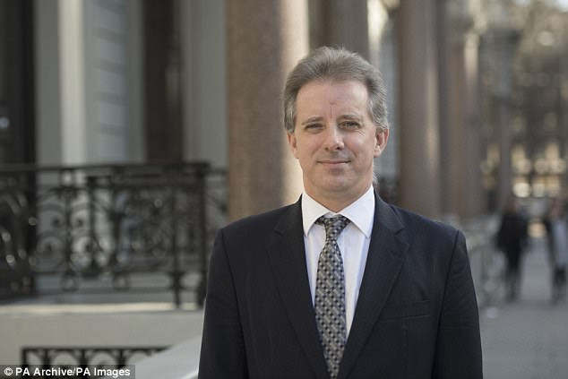 Claims have resurfaced that the FBI offered British spy Christopher Steele (pictured)  $50,000 to corroborate his claims about now-President Donald Trump in the 'dirty dossier'