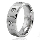Stainless Steel Cubic Zirconia Eternity Mens Wedding Ring