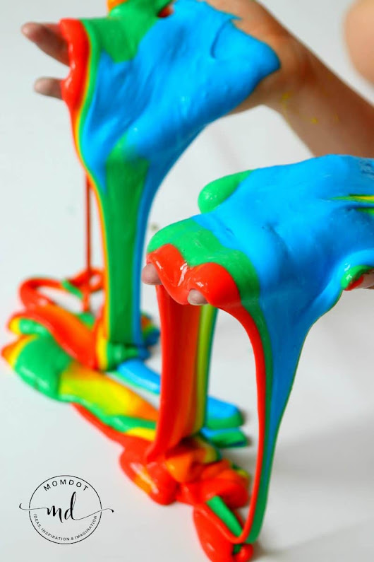 Rainbow slime: How to make multicolored homemade slime