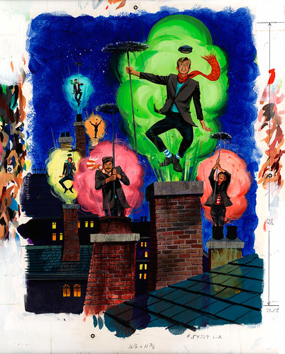 Disney On Parade 1973 Souvenir Program - Back Cover Painting -Nixon Galloway