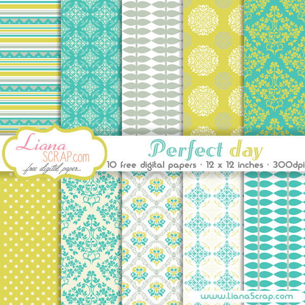 Free digital paper pack – Perfect Day Set