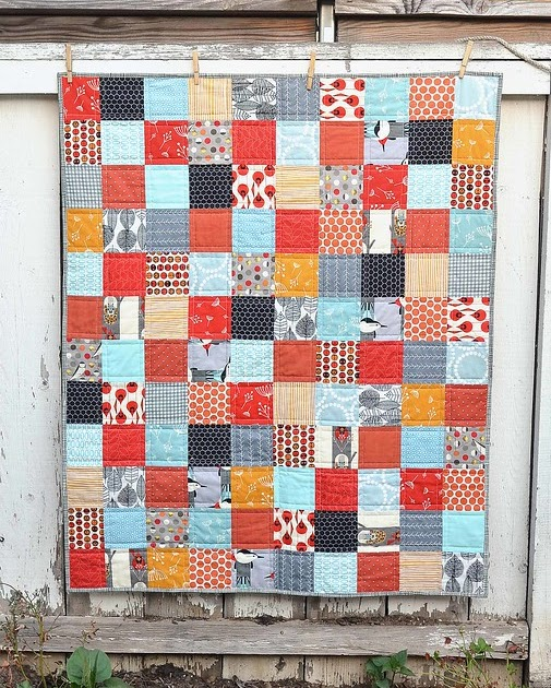Quilting Ideas For Kitchen : a charley harper baby quilt Kitchen Table Quilting