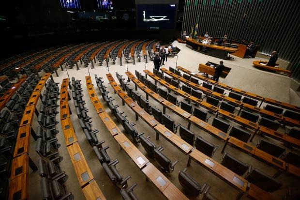 BRASILIA, DF, BRASIL, 11-08-2016, 15h00: Plenário da Câmara vazio durante sessão não deliberativa na tarde de hoje. Congresso deve seguir esvaziado nos próximos dias devido às eleições municipais