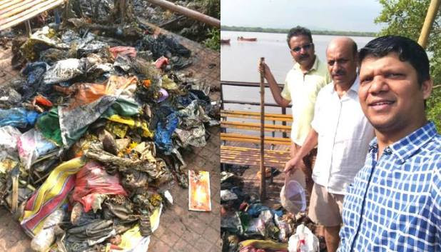 42 YO Man Is Cleaning Jesel Park's RillIn Bhayander In Mumbai All By Himself
