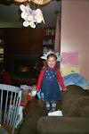 Alex in her flower hat from Aunt Eye