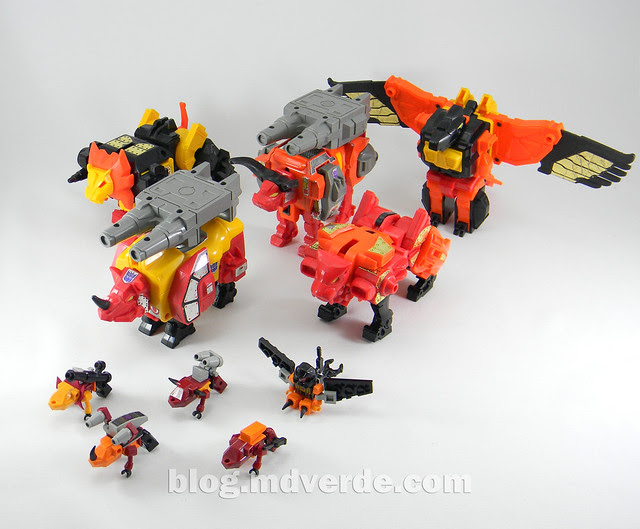 Transformers Predaking Kre-O - modo bestias vs G1