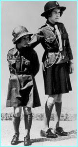 Queen Elizabeth and Princess Margaret were Brownies in 1937
