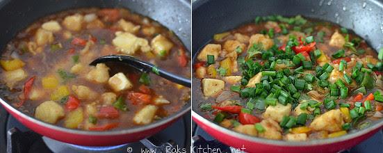 How to make chilli paneer gravy step 4