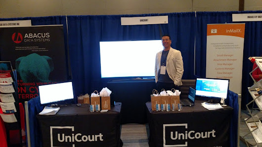 "UniCourt Inc. on Twitter: ""#legaltech watch out for 60"" Tv with UniCourt all over it @LegalTechShow """