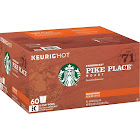 Starbucks Pike Place Medium Roast Ground Coffee K-Cups - 60 count
