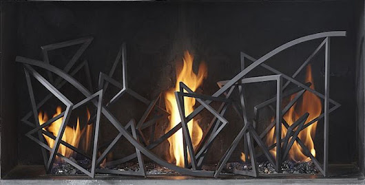 Metal Fireplace Grills by Cathy Azria for Indoors and Outside