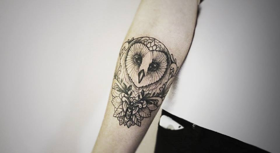 Cute Owl Tattoo By Diana Severinenko Design Of Tattoosdesign Of