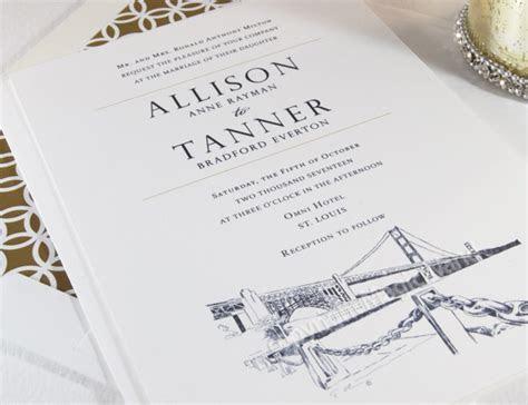 San Francisco Skyline Wedding Invitations