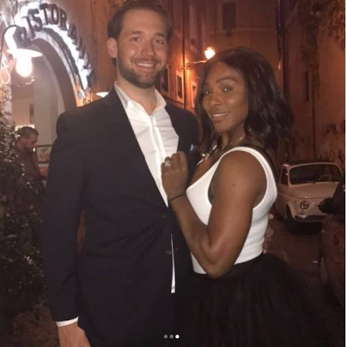 Serena Williams shares three photos of the engangement day with Alexis Ohanian