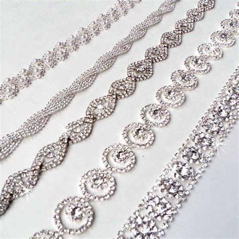 Glamorous Rhinestone Bridal Belt Sash   Custom Ribbon