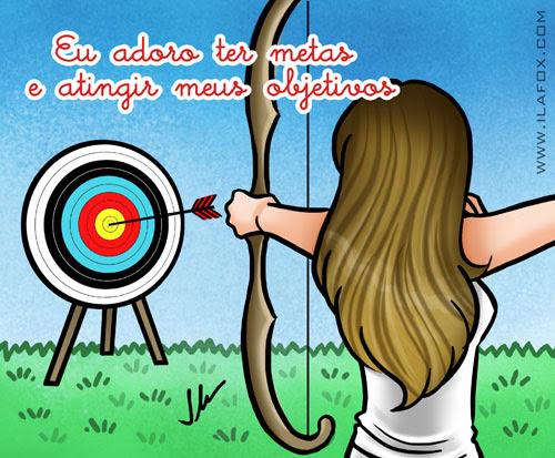 Eu adoro atingir meus objetivos, tiro ao alvo, by ila fox