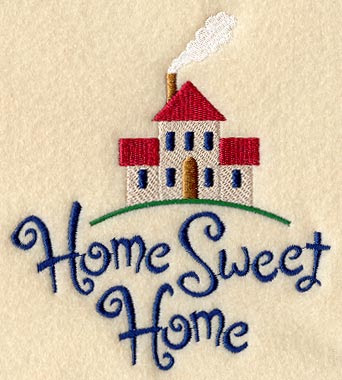Lovely Home Sweet Home Embroidery Design