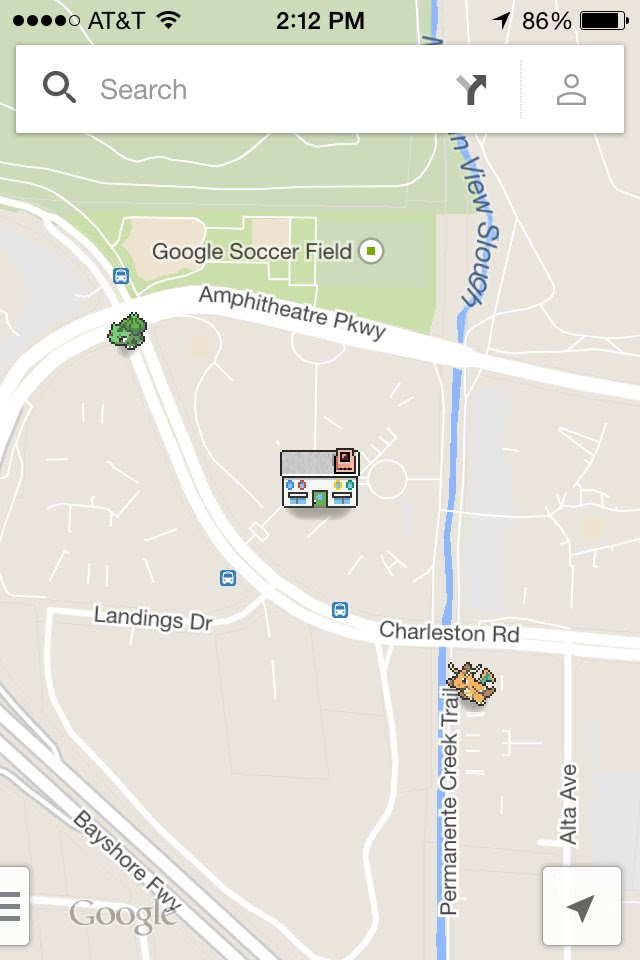 google maps pokemon
