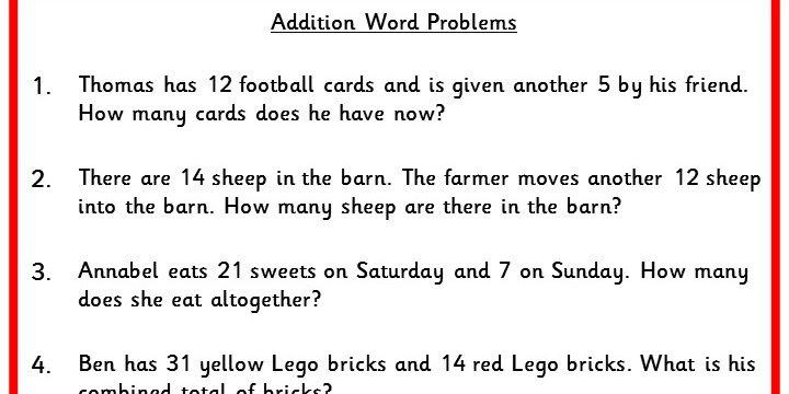 Addition Word Problems Classroom Secrets