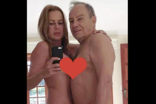 """Mulher de Stênio Garcia sobre fotos íntimas: """"'Investigação em sigilo total"""" Internet/Reprodução"""