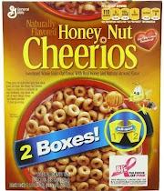 General Mills Honey Nut Cheerios, 2-Pack, 55-Ounces