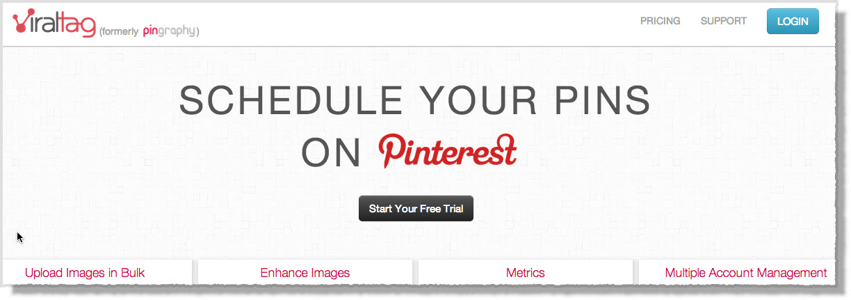 Pinterest tool viraltag