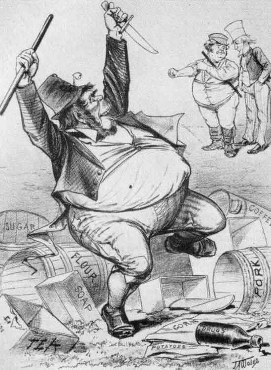 Irishman considered by John Bull and Uncle Sam