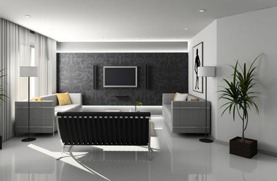 idée decoration salon moderne gris
