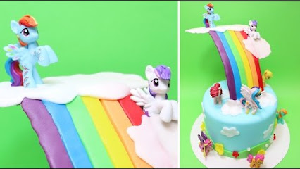 rainbow dash cake template - cakes stepbystep google