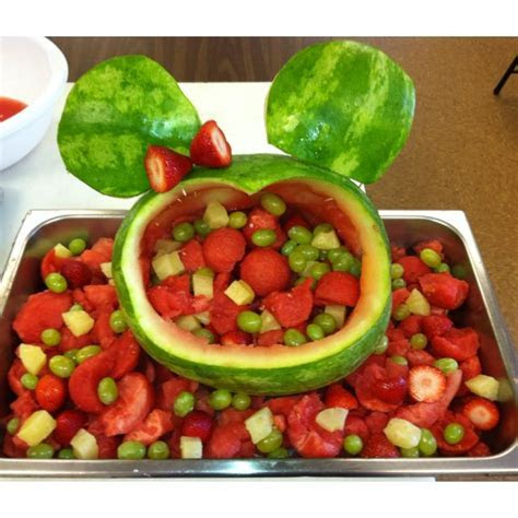 Minnie Mouse Watermelon Basket   Must Try Recipes