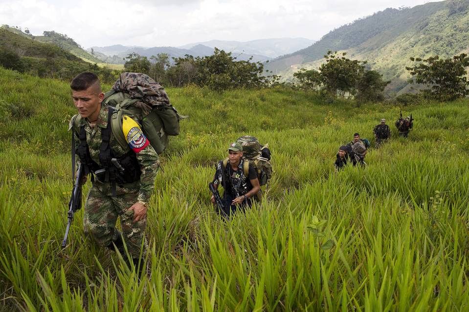 Members of the Revolutionary Armed Forces of Colombia (FARC), a terrorist group that is heavily involved in the international drug trade.