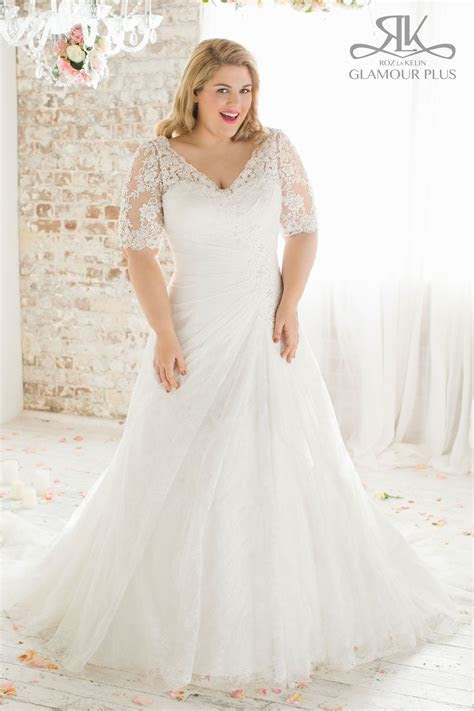 Plus Size Wedding Gown from Glamour Plus Collection Sizes