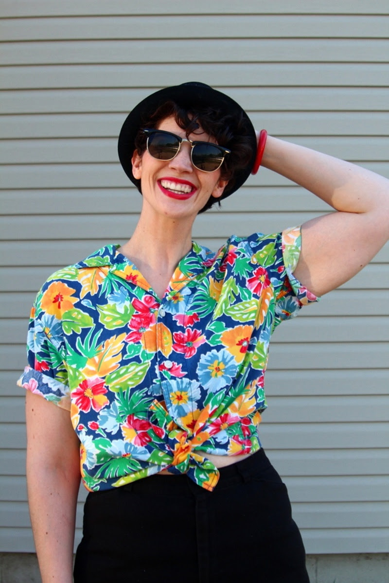 dressing up a hawaiian print shirt livefromthe80s  the