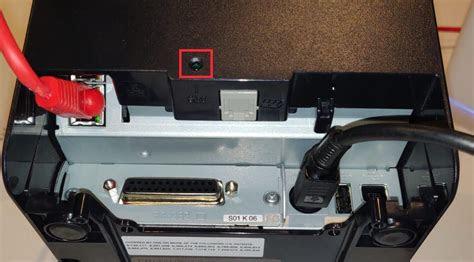 factory reset  epson tm tvi thermal printer