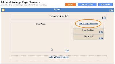 Standard Blogger Minima 2 column template