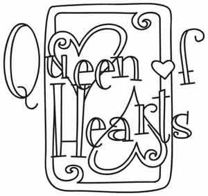 Queen Of Hearts Card Drawing At Getdrawingscom Free For Personal